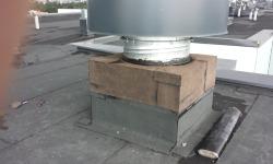 Lamekatuse remont: ventilatsioonikasti ümberehitus ja vesieristus(aluskatte kiht)