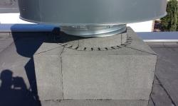 Lamekatuse remont: ventilatsioonikasti ümberehitus ja vesieristus(pealiskiht)
