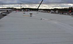 Lamekatuse remont ja ehitus: pealiskiht, SBS rullmaterjal, valge.