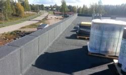 Lamekatuse ehitus: rullmaterjaliga kaetud parapett